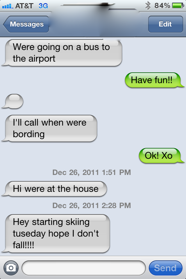 Misspelled text messages